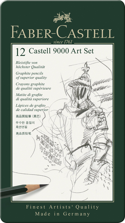 fabercastell 9000 graphite sketch pencil sets art 8b  2h
