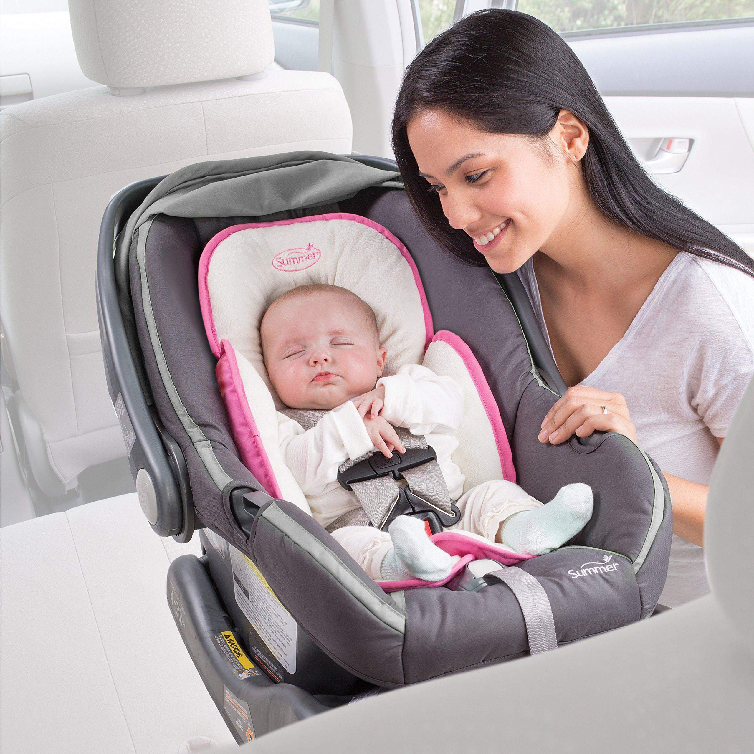 Summer-Infant-Snuzzler-Infant-Support-for-Car-Seats-and-Strollers-Velboa-Pink thumbnail 2